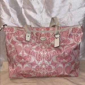 Coach Snake C Print Weekender Bag F77509